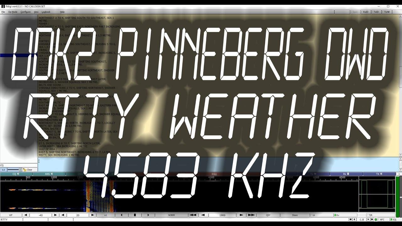 DDK2 Pinneberg DWD Weather Radio Teletype (RTTY) - 4583 kHz