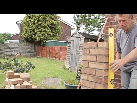 How to build a brick pillar youtube for How to build a house on pillars