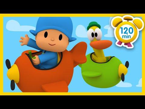 Descargar Video 🛩 POCOYÓ en ESPAÑOL - Viaja en avión [ 120 minutos ] | CARICATURAS y DIBUJOS ANIMADOS para niños