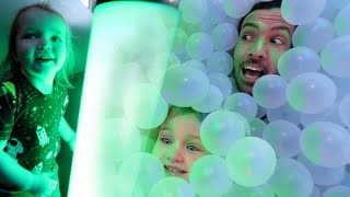 HiDE N SEEK with a TWiST!!  the ultimate Ball Pit & Play Place game with Niko Mom & Dad! family fun