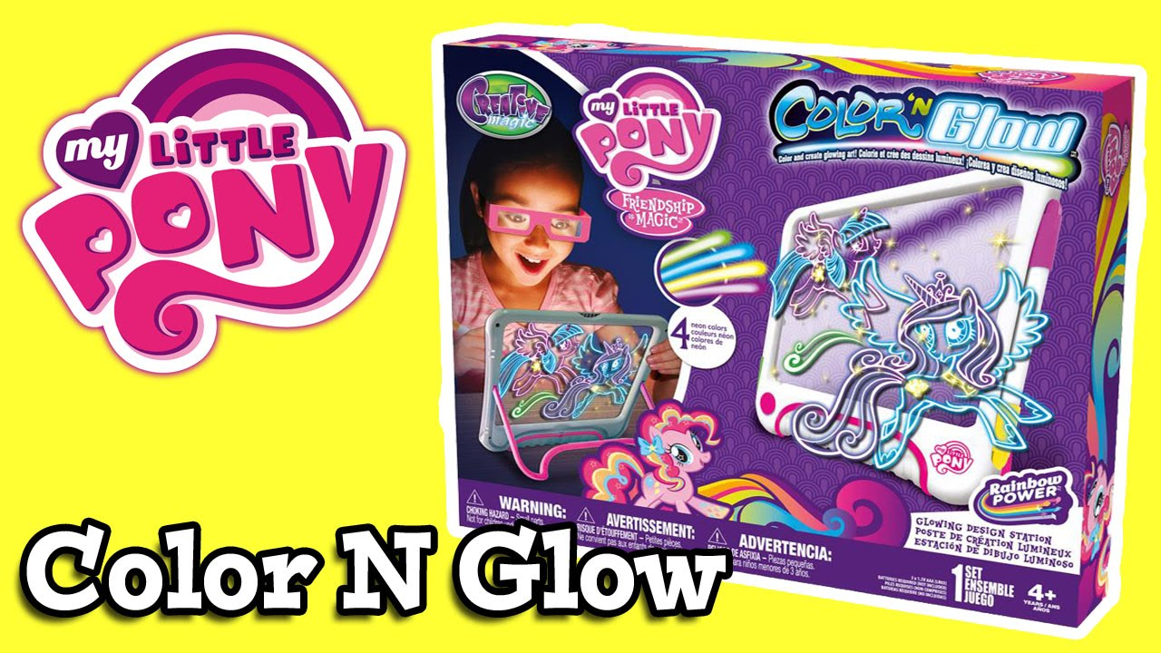 My Little Pony Color And Glow Design Station YouTube