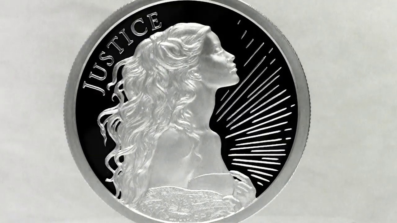 2018 Silver Shield Justice Four Cardinals Virtures Series 1 oz Silver Wastweet