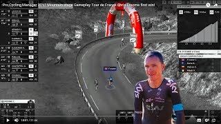Pro Cycling Manager 2017 Mountain stage Gameplay Tour de France Chris Froome first win!