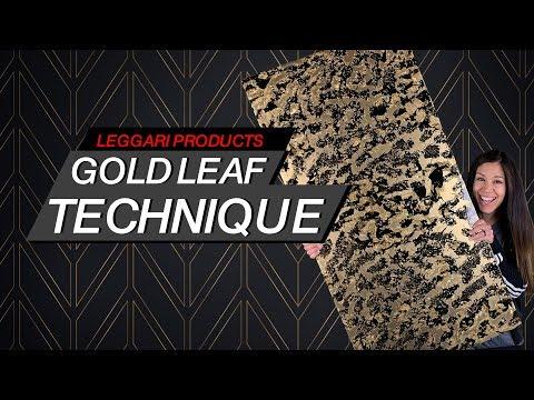Gold Leaf Technique On Epoxy | Leggari Products