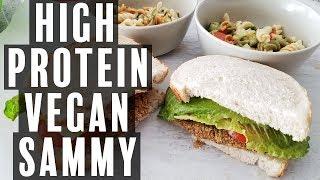 High Protein Vegan Chicken Sandwich | High Protein Vegetarian Chicken Sandwich & Pasta Salad