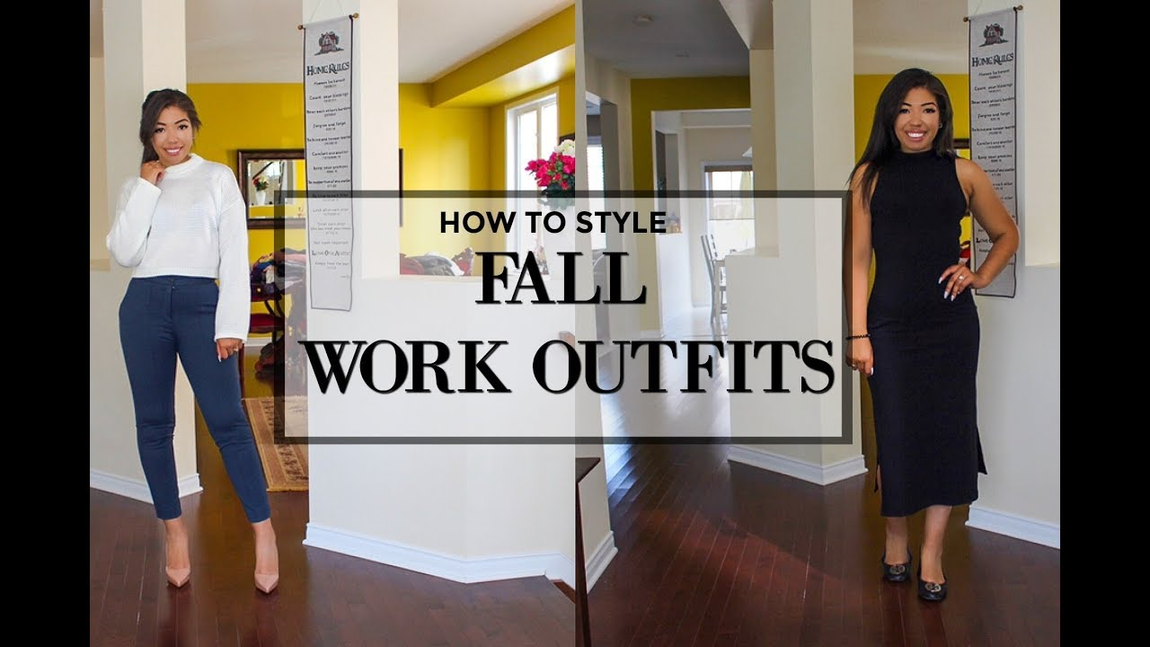 [VIDEO] - HOW TO LOOK STYLISH AT WORK - 4 FALL OUTFIT IDEAS FOR WORK - OFFICE ATTIRE LOOKBOOK 6