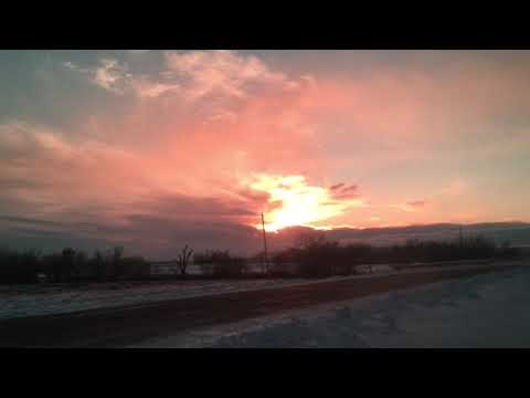 WARNING!!!sun shows it's colors. Beulah North Dakota