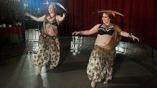 Sword belly dance duet @ Tribal Nights Universe Party 2018