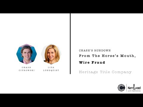From The Horse's Mouth, Wire Fraud