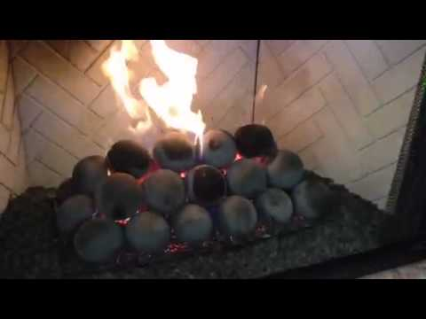 Cannonball Gas Logs direct vent - YouTube