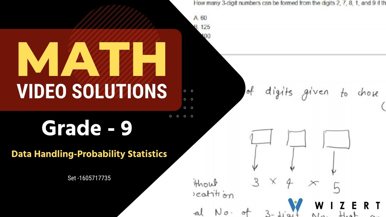 medium resolution of Math Tests And Data Handling – Probability And Statistics worksheets for Grade  9 - Set 1605717735 - YouTube