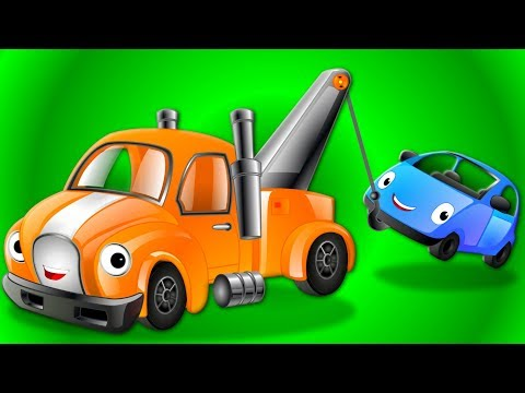Wheels On The Tow Truck Go Round And Round Nursery Rhymes Songs For Kids Cartoon Videos Oh My Genius