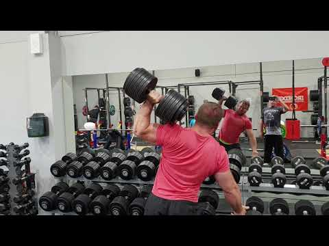 60 kg / 132 lbs x 8 One Arm Dumbbell Shoulder Press - Laird Ross
