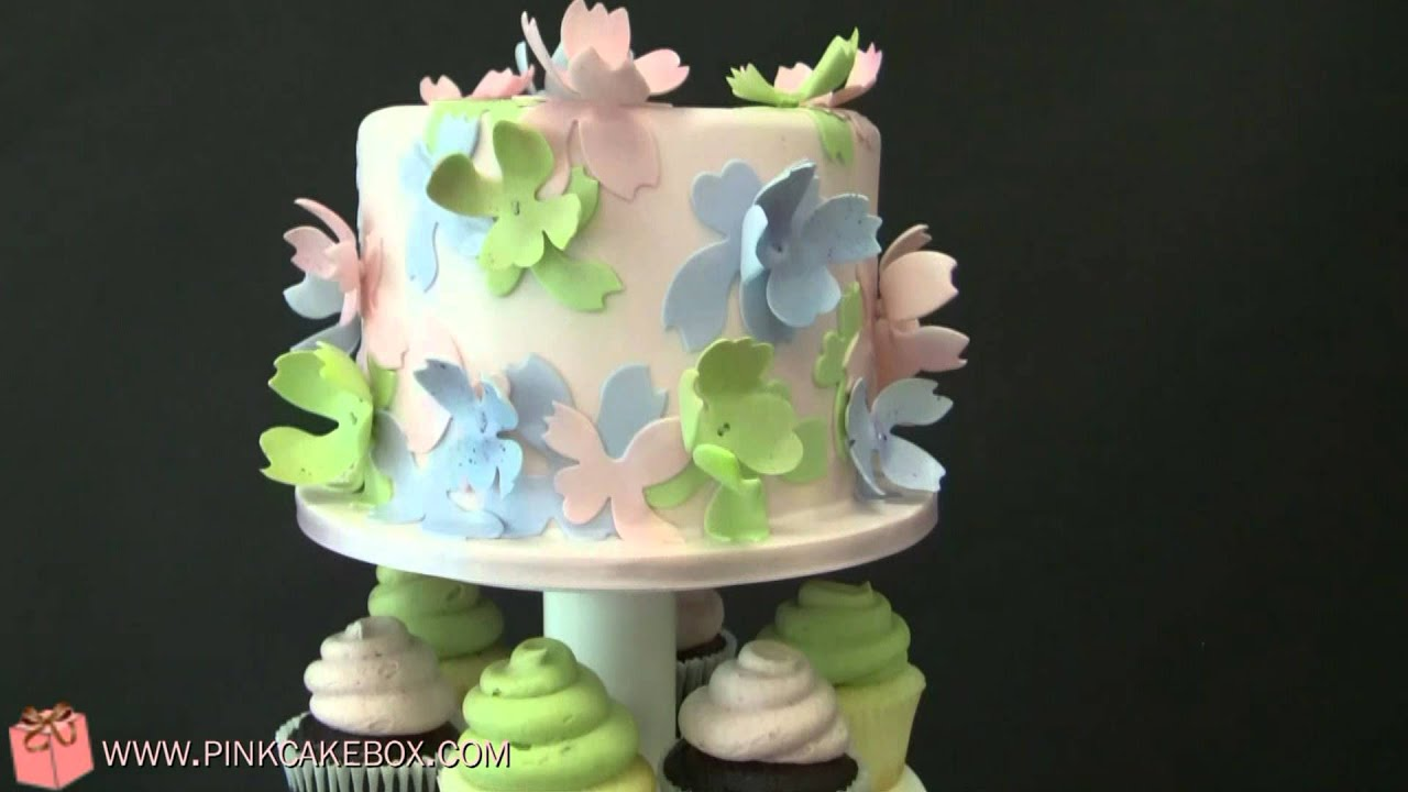 75th Birthday Flower Cupcake Stand Youtube