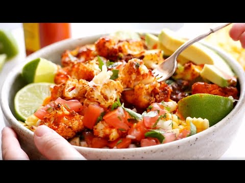 Roasted Cauliflower Burrito Bowls