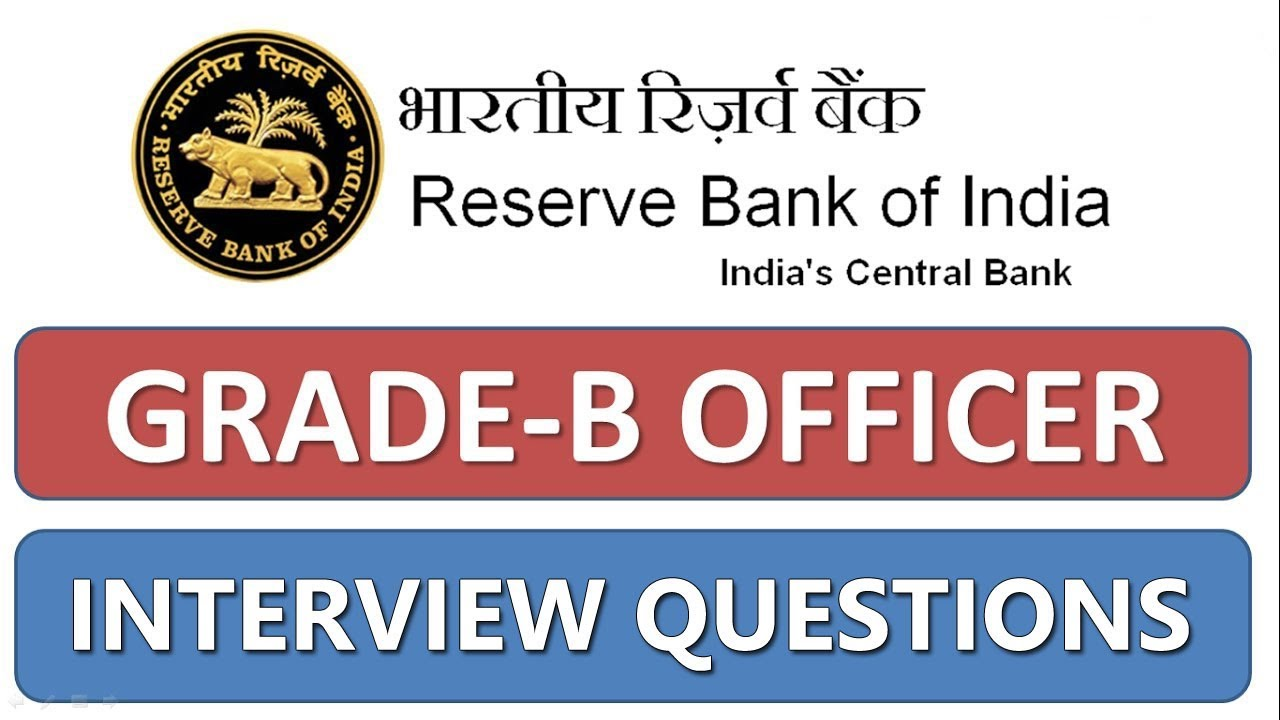 RBI Grade B Interview Questions
