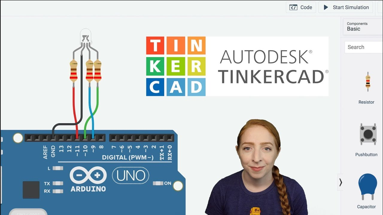 RGB LEDs With Arduino in Tinkercad