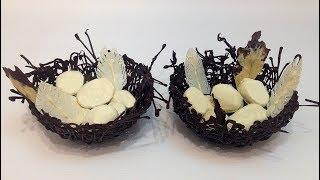 """ДЕСЕРТ """"ШОКОЛАДНОЕ ГНЕЗДО"""" (""""chocolate nest"""" dessert)"""