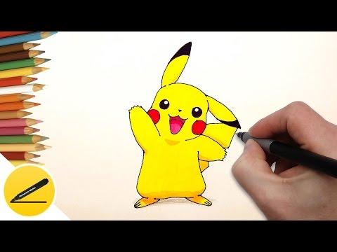 Уроки рисования. Как нарисовать покемонов:пикачу , чармандер, хорси, пиплап How to draw POKEMON
