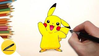 Как Нарисовать Пикачу (Покемон Го) поэтапно | Рисуем Покемонов
