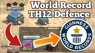 TH12 【Town Hall 12】 World Record Defence | TH12 Best Cc Troops You Never See Before