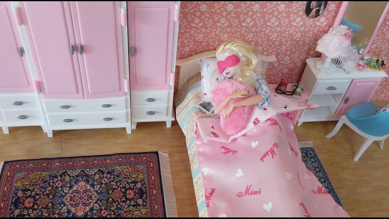 Frozen Elsa Barbie Bedroom wardrobe playset芭比娃娃臥室Elsa barbie ...