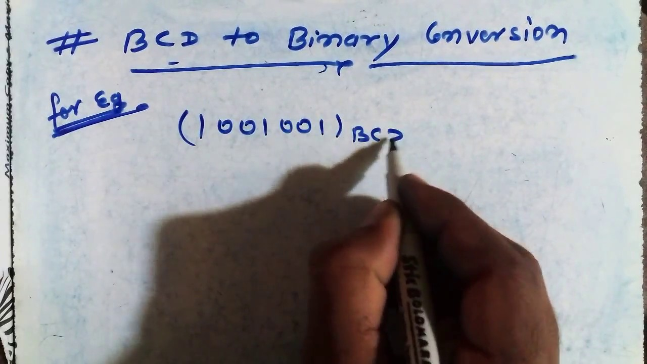 Bcd To Binary Conversion In Hindi Youtube Coded Decimal Converter Data Permanent Trusted