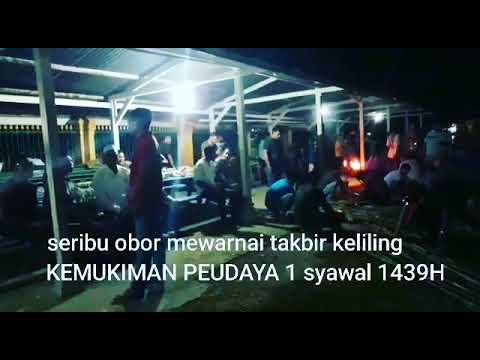 Seribu Obor Mewarnai Takbir Keliling Kemukiman Peudaya Padang Tiji