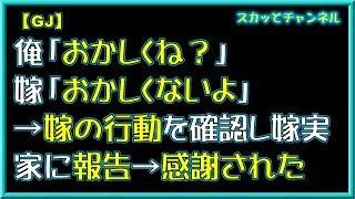 【GJ】俺「おかしくね?」嫁「おかしくないよ」→嫁の行動を確認し嫁実家に報告→感謝された