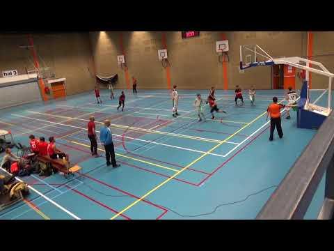Rotterdam Basketball vs MBCA U14 1st Half Season 2017/2018 National League Netherlands