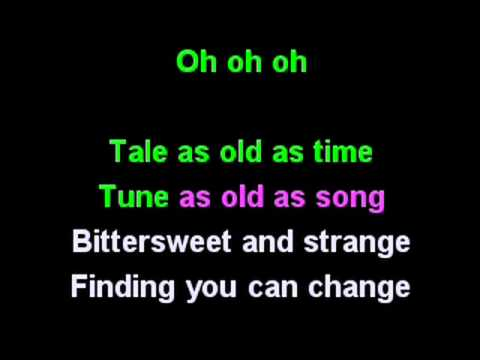 Beauty and the beast karaoke  Celine Dion & Peabo Bryson