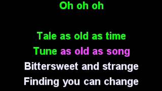 Beauty and the beast karaoke - Celine Dion & Peabo Bryson