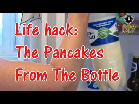 Life Hack - Pancakes From The Bottle - Easy And Quick Pancakes Recipe