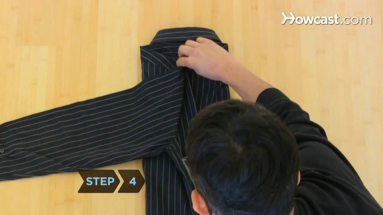 How To Fold A Dress Shirt Youtube