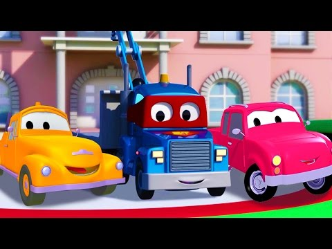 Carl Transform and the Pickup Truck in Car City | Trucks cartoon for kids