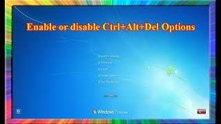 how to Disable CTRLALTDEL Requirement for Windows Server 2012 Logon Screen