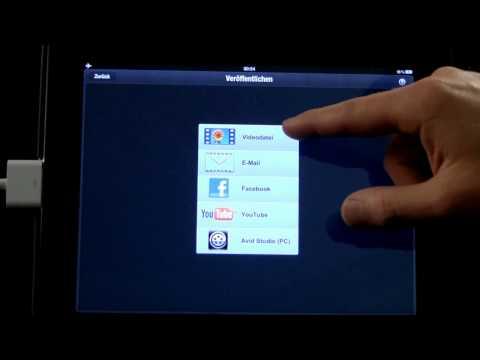 13 Avid Studio iPad Übersicht Export