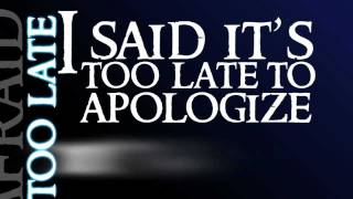 Apologize-OneRepublic Lyrics Video