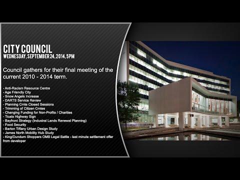 Hamilton City Council for September 24, 2014