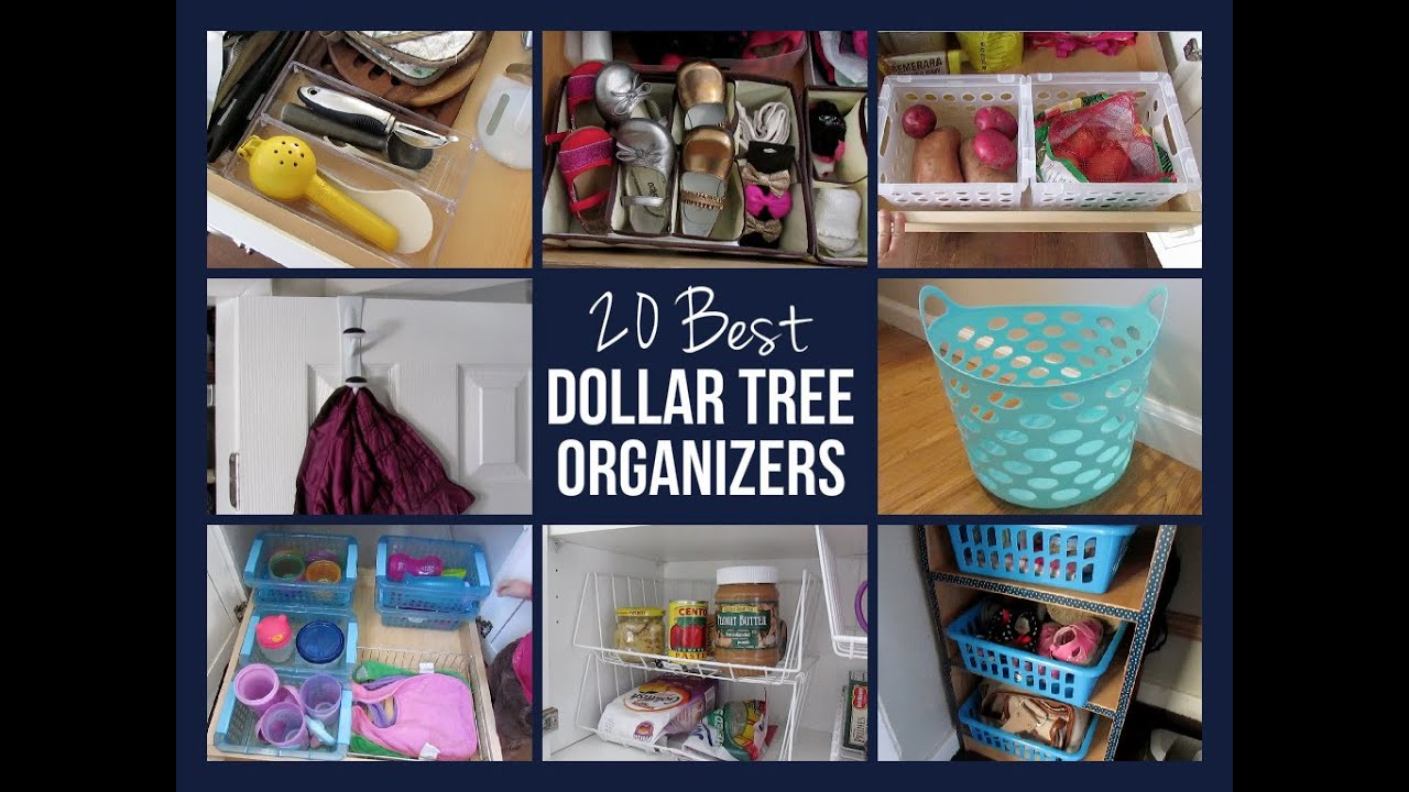 Amazing 20 BEST DOLLAR TREE ORGANIZERS