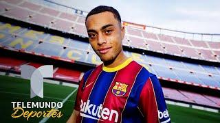 La preocupante presentación de Dest con Barcelona, ¿peor que Braithwaite? | Telemundo Deportes