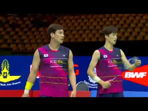 Princess Sirivannavari Thailand Masters 2016 | Badminton SF M5-MD | Ahs/Set vs Ko/Shin