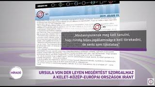 Ursula von der Leyen megértést szorgalmaz a kelet-közép-európai országok iránt