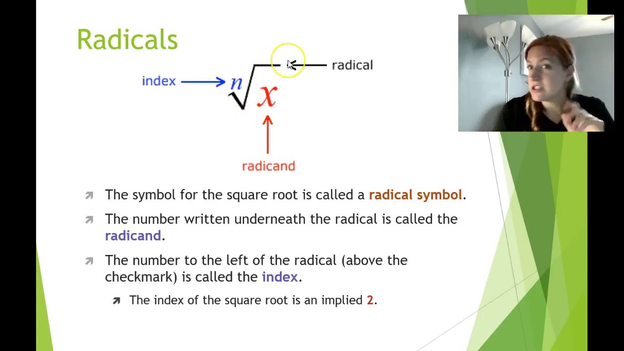 Simplifying Radical Expressions Youtube