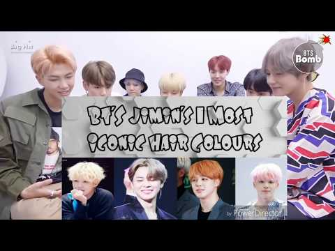 BTS react to Jimin's Iconic hair colour collection video