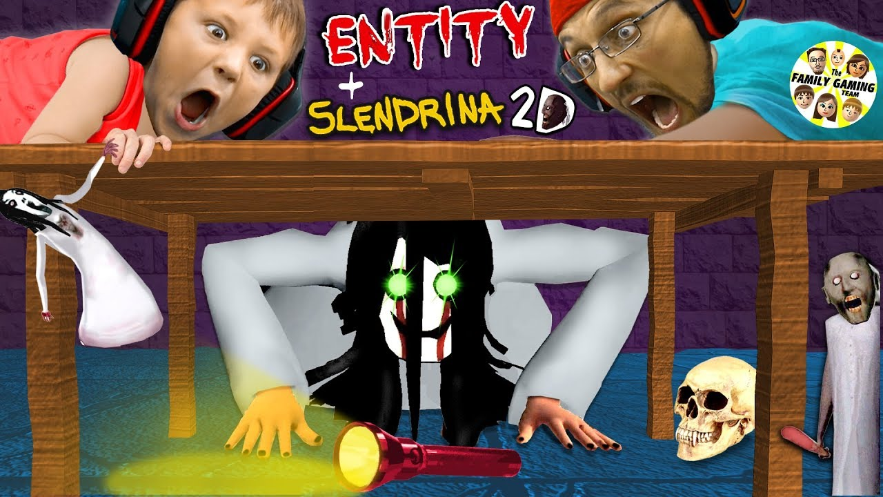 SHE WILL FIND YOU!! Granny Boss in Slendrina 2D + Slouchdrina Impossible Escape w/ FGTEEV Chase