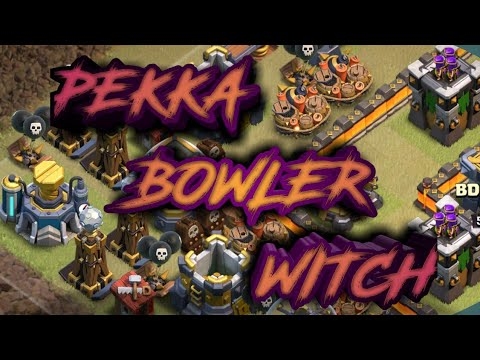 WOW!! IT'S UNSTOPPABLE PEKKA +GAINT+WITCH +BOWLER. TH12 WAR ATTACK STRATEGY 2019. COC