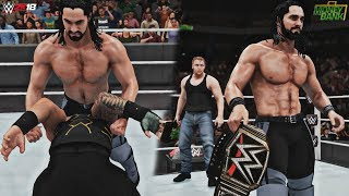 WWE 2K18: Dean Ambrose Cashes In Money in the Bank on Seth Rollins! (MITB 2016) - Recreation