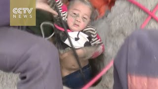 3-year-old boy rescued from 90-meter-deep well