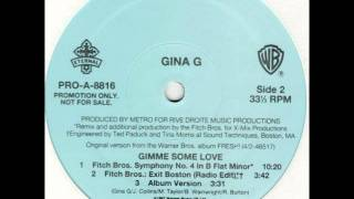 Gina G - Gimme Some Love  (Fitch Bros. Symphony No. 4 In B Flat Minor) [1997]